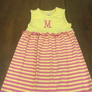 Other - Girls yellow and pink cotton dress